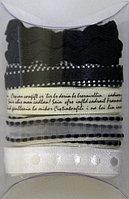 ТесьмаСкрапбукингРукоделие для творчества в наборе 5шт RS45 Белый и черный