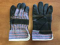 Перчатки кожаные комбинированные, kazat 6612A, фото 1