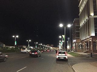 Светодиодные светильники ПСС КТ 200 на ул. Тауелсиздик
