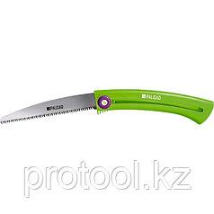 Пила походная, выдвижная, 160 мм, зуб 3D, каленый зуб, пластиковая рукоятка// PALISAD