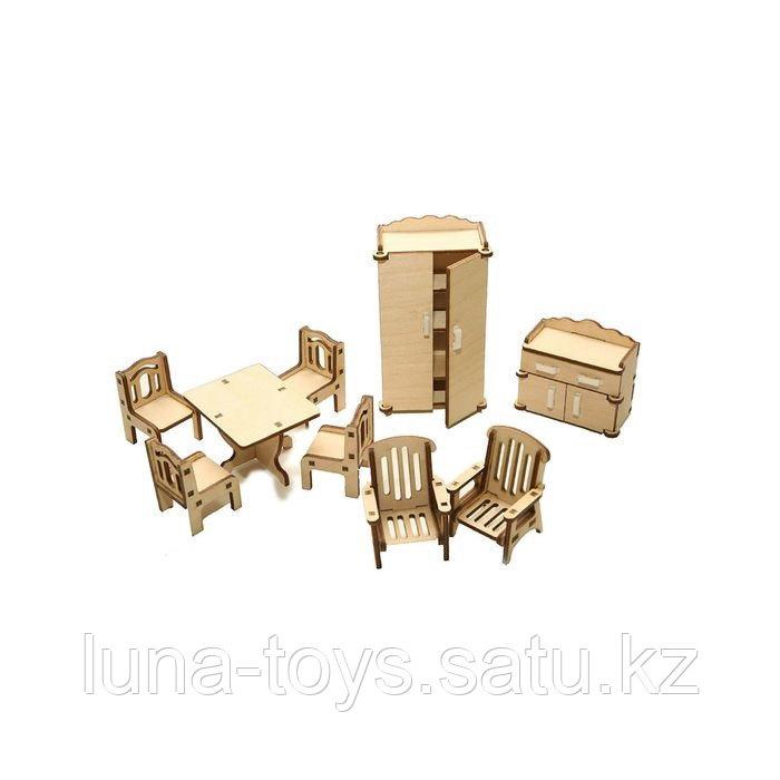 "Набор мебели ""Зал"" (стол, стулья 4 шт., кресла 2 шт., шкаф, тумба под ТВ)"
