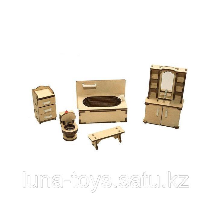 """Набор мебели """"Ванная"""" (скамейка, ванна, унитаз, умывальник, шкаф)"""
