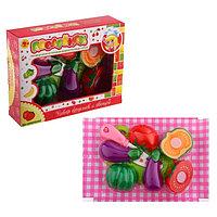 """Набор фруктов и овощей-нарезка """"Поварёнок"""", на липучках, с доской, 8 предметов, МИКС, фото 1"""