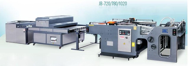 Автоматическая линия выборочного или сплошного УФ-лакирования JINBAO JB-1020A