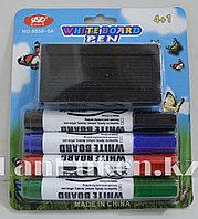 Набор маркеров 4 шт. + ластик для белой доски