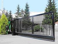 Откатные консольные ворота, решетчатые