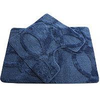 Коврик двойной Fixsen МА0128А-2 голубой в ванную комнату 60х90см