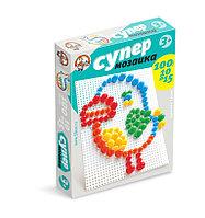 Пластмассовая мозаика для детей «Супер», 100 элементов
