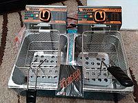 Фритюрница профессиональная на 16 литров двойная (8+8 литров)  (чикен аппарат), фото 1