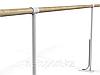 Балетный напольный однорядный станок 1м-1,3 м