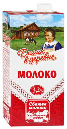 """Молоко стерилизованное """"Домик в деревне"""" 3,2% 0,95л"""