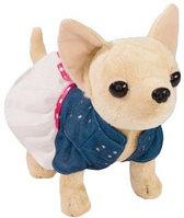 Плюшевая собачка Чихуахуа Chi Chi love Гордской стиль в сумочке с заклепками, 20 см. 5895107, фото 1