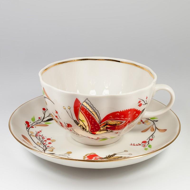 Чайная пара Бабочки. Императорский фарфор