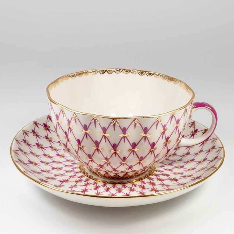 Чайная пара Сетка-блюз. Императорский фарфор