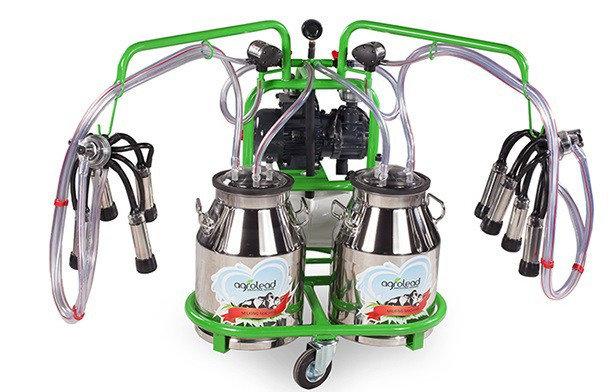 Доильный аппарат 2 пульсатора, 2 бидона по 30л плюс бензиновый двигатель, фото 2