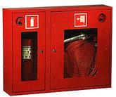 Шкафы для пожарного крана, шкафы и подставки для огнетушителей