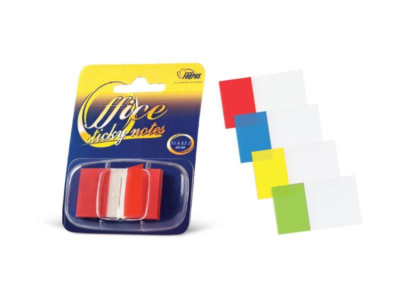 Закладки пластиковые в диспенсере 44*25мм цвет в ассортименте