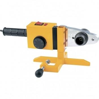 Аппарат для сварки пластиковых труб DWP-1500, 1500ВТ, 260-300 град., с насадками, 20-63мм//DENZEL