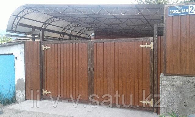 Ворота металлические с металлосайдингом