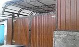 Ворота металлические с металлосайдингом, фото 3