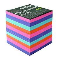 Блок для записей INDEX цветной 9х9х9 см