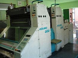2-краска В2 ROLAND 202E EOB, 2002 г., 2+0, 38 мил. отт., Пульт, двойные цилиндры антистатик