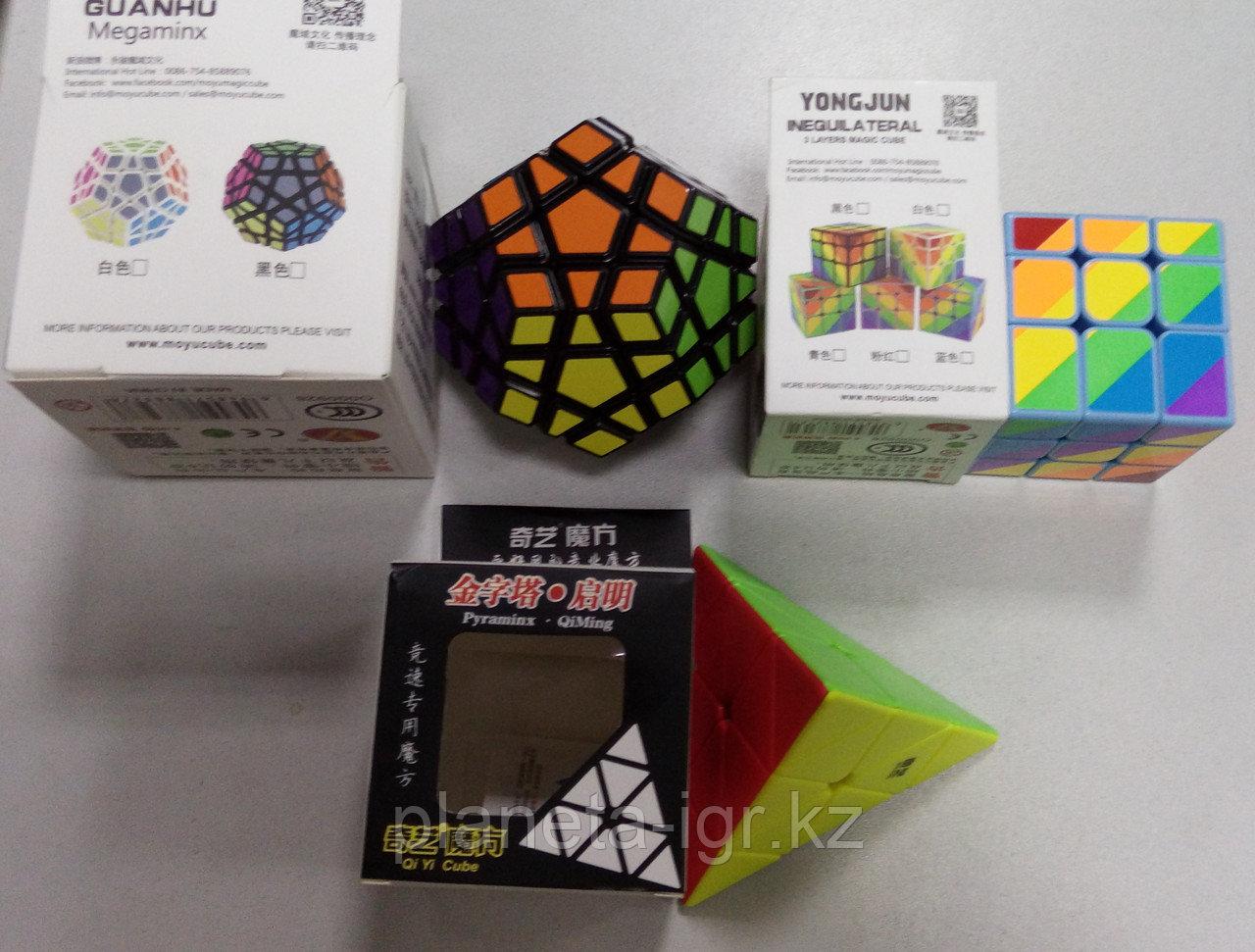 Набор №5: Мегаминкс Мойю Гуанху+Радужный мойю 3х3+QIUI Pyraminx