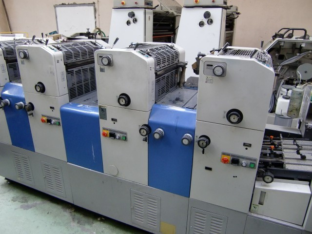 RYOBI 3304H 1998г. 4-х красочная офсетная печатная машина