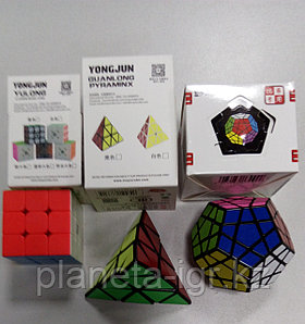 Набор №6: Мойю Пирамидка+Мойю 3х3 Юлонг колор+Шенгшоу Мегаминкс