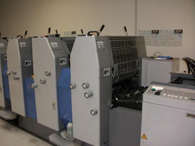 RYOBI 524HE 2007г. 18 мил. отт 4-х красочная офсетная печатная машина