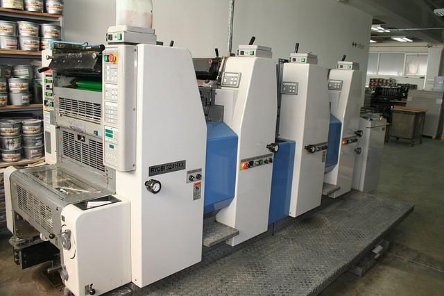 Ryobi 524HXX б/у 2000г. - 4-х красочная офсетная печатная машина