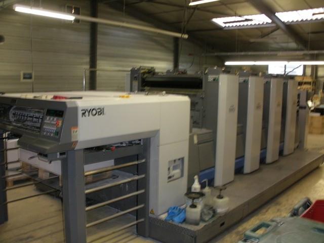 RYOBI 924! 92х62 см формат! 2008г.! 35 мил. отт. 4-х красочная офсетная печатная машина