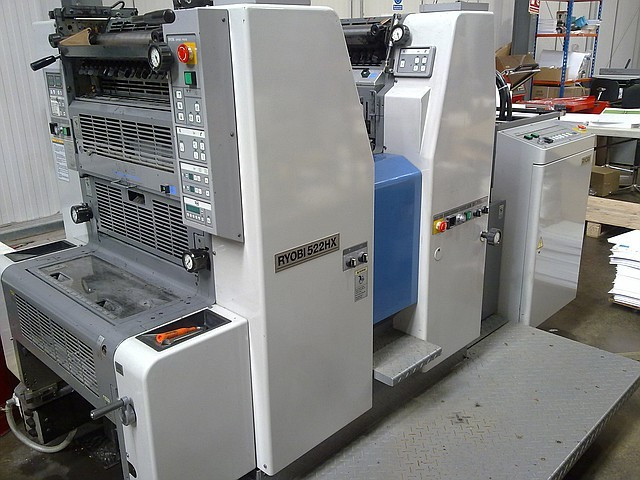 RYOBI 522HX 1998 г. 2-х красочная офсетная печатная машина