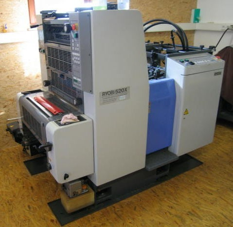 Ryobi 520X б/у, 1996 г. - 1-красочная печатная машина