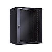 15U Телекоммуникационный шкаф настенный, 600*450*766, цвет чёрный LinkBasic