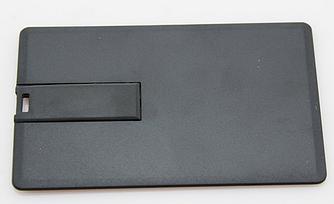 Флешка визитка черная 16 гб без нанесения. Бесплатная доставка по Казахстану.