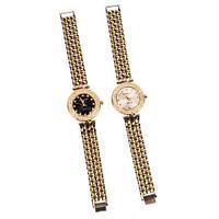 Часы наручные женские реплика MICHAEL KORS MK-1282 (Чёрный циферблат)