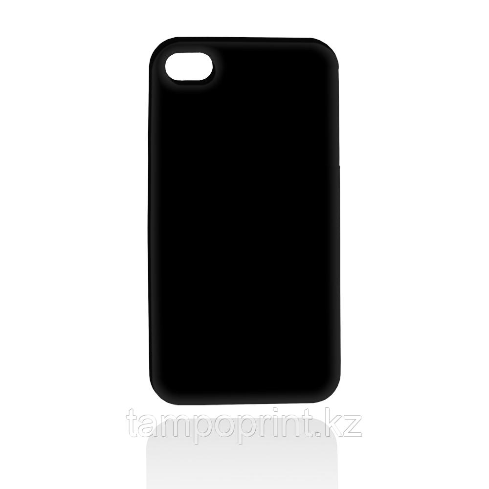 Чехол черный для iPhone 4/4s (глянцевый)