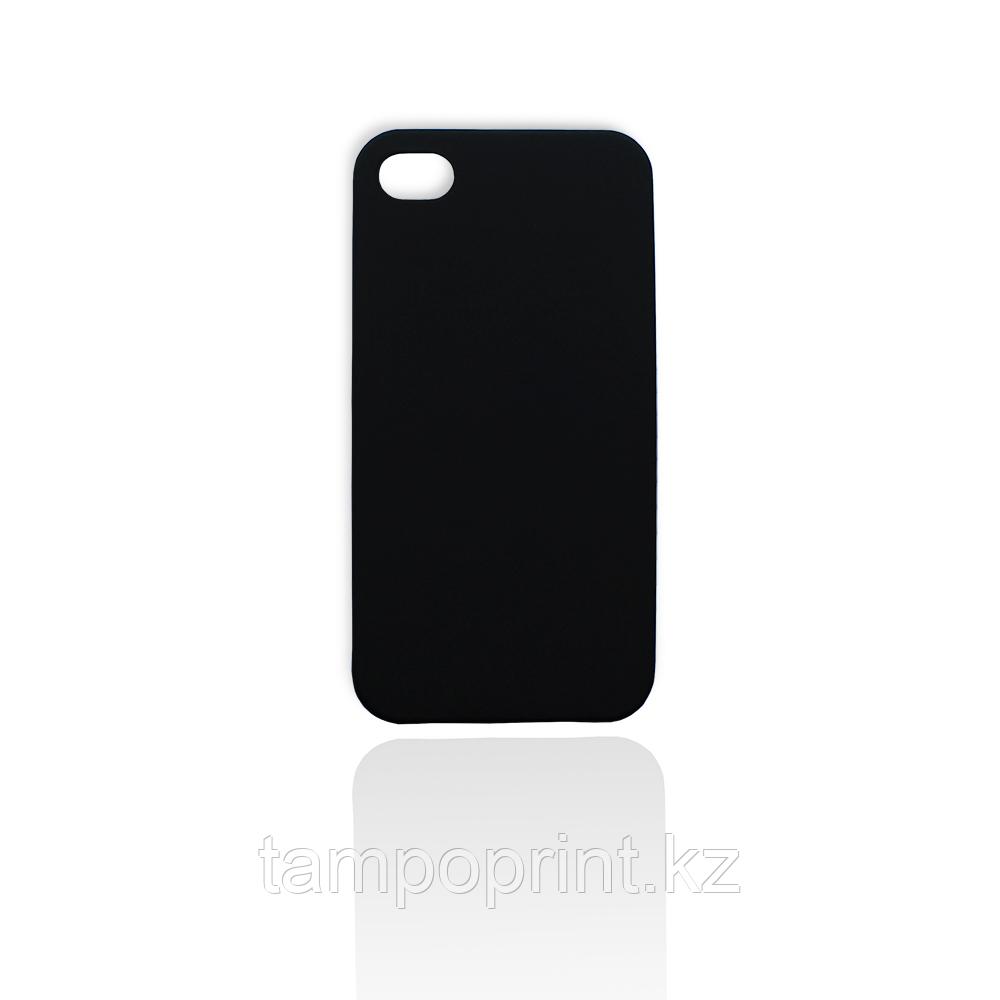 Чехол черный для iPhone 4/4s (soft touch)