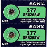 Батарея Sony 377 1.55v  SR626SW