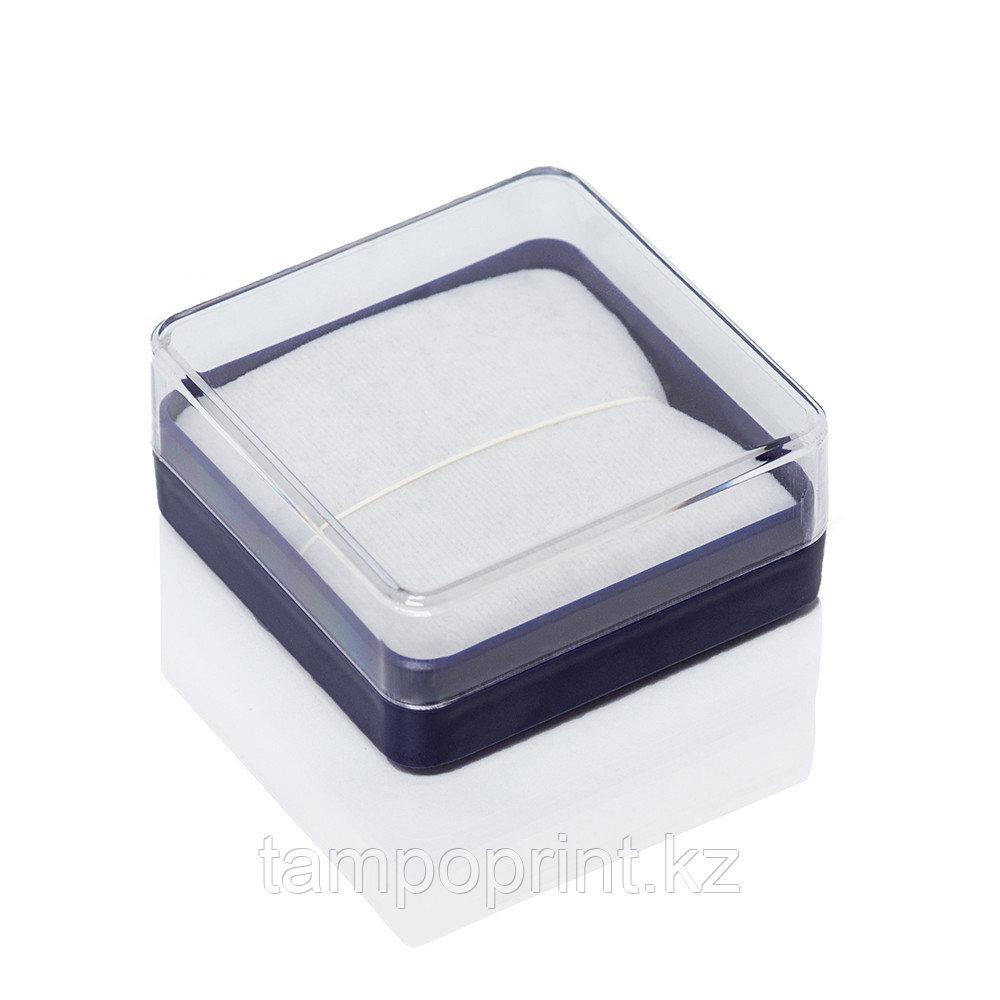 U-PK020 (футляр пластик.) синий с прозрачной крышкой, 55х55