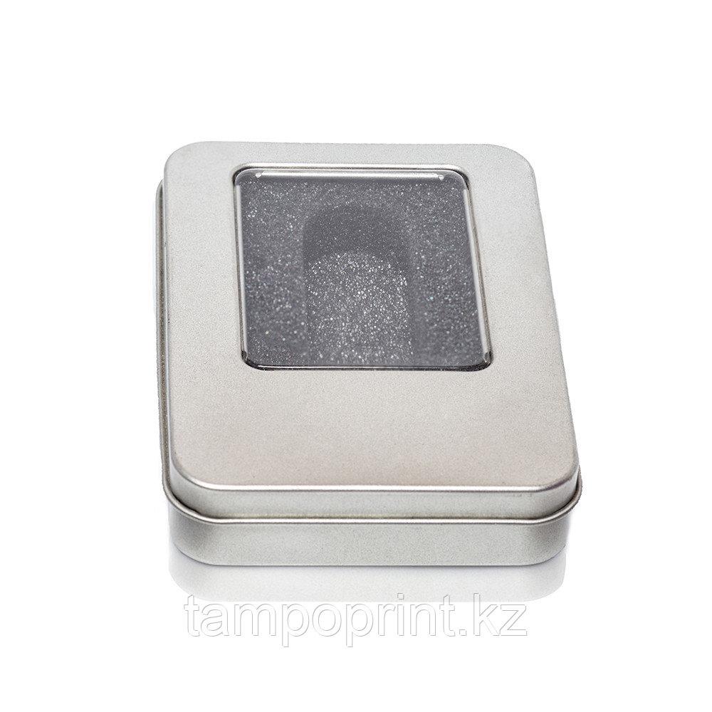 U-PK014 (метал.коробка) НЕОБХОДИМО ВЫРЕЗАТЬ ЛОЖЕМЕНТ серебро