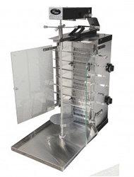 Шаурма-шашлычница газовая Ф2ШмГ/ 11207 (с мотором, стекл. экр.) (Шаверма) (515х800х970мм)