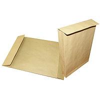 Конверты-пакеты с расширением- 229*324*40, коричневый, 130 гр, отрывная лента,клапан по короткой стороне