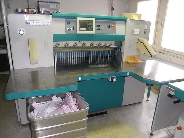 Бумагороезальная машина PERFECTA 115 TVC 2002 год+Джоггер+Лифт