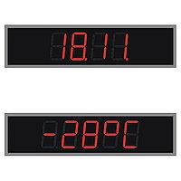 НИИЧаспром Фасадные цифровые часы высота цифр 210мм