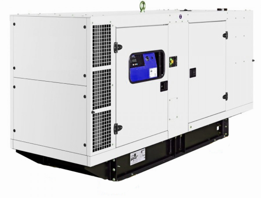 Дизельный генератор 100 кВт в защитном кожухе