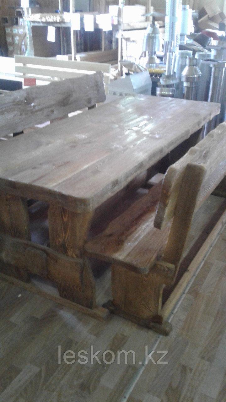 Комплект мебели стол с лавочками
