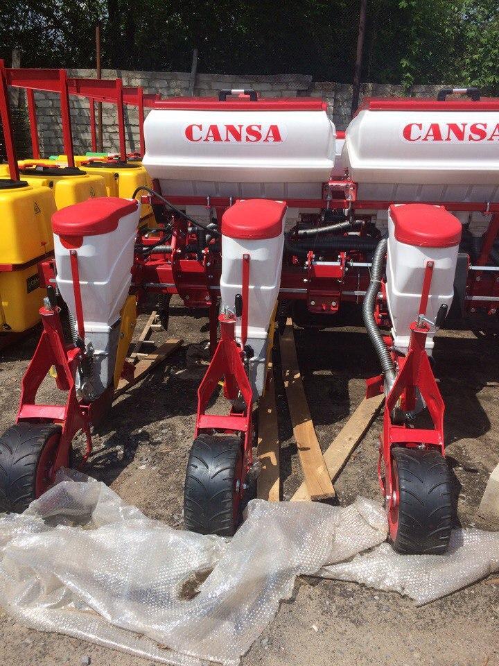 Сеялка CANSA 8-рядная пневматическая, пропашная, точного высева, анкерная, с внесением удобрений