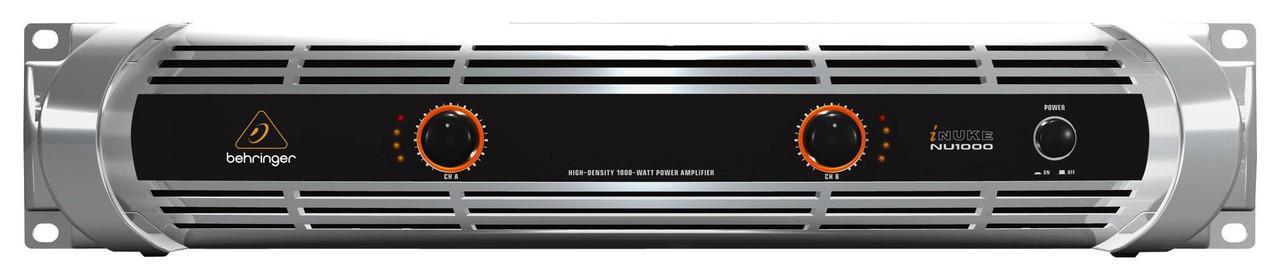 Behringer NU1000 - усилитель мощности, 2х150 Вт/8 Ом, 2х300 Вт/4 Ом, 1000 Вт/4 Ом (мост)